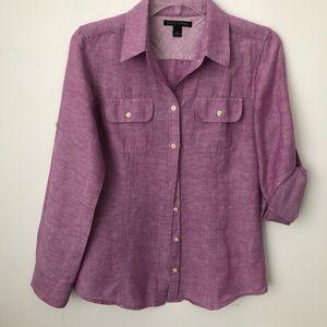 Banana Republic linen-cotton blend shirt